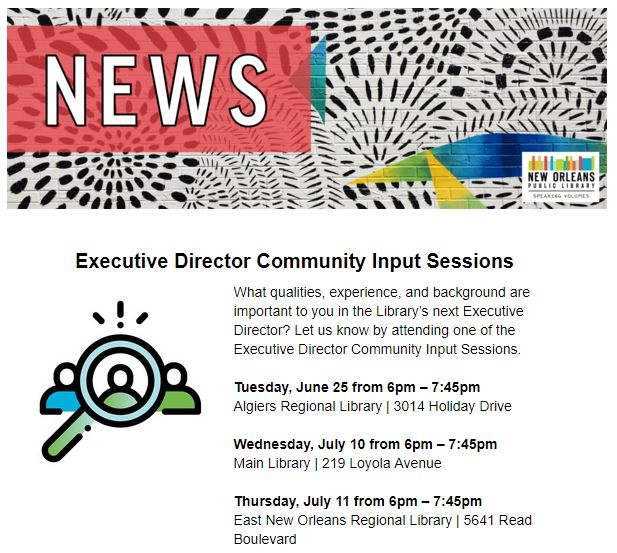Executive Director Community Input Sessions