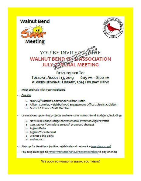 July 2019 Meeting Flyer